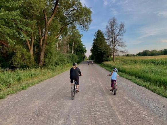 family gravel ride